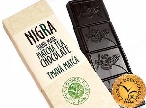 NIGRA - Hand Made Matcha Tea Chocolate- Tmavá matča