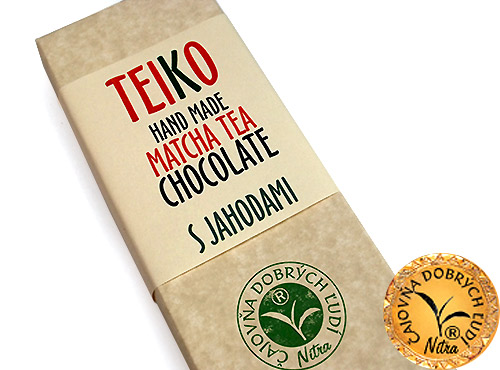 TEIKO -Hand Made Matcha Tea Chocolate- S jahodami