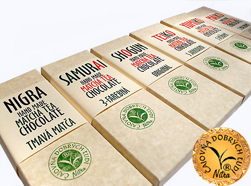 Matcha Tea Chocolate- Nigra- Tmavá matča hand made