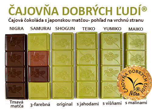 NIGRA -Hand Made Matcha Tea Chocolate- Tmavá matča