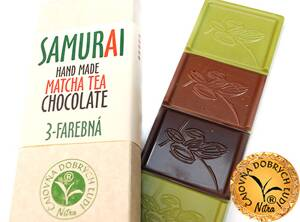 SAMURAI - Hand Made Matcha Tea Chocolate- 3- farebná
